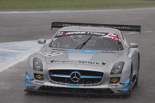 The Preci-Spark Mercedes-Benz SLS AMG GT3 of David Jones and Godfrey Jones in British GT Racing at Donington, September 2015