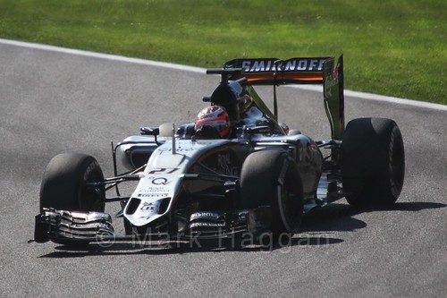 Nico Hulkenberg in Free Practice 3 for the 2015 Belgium Grand Prix