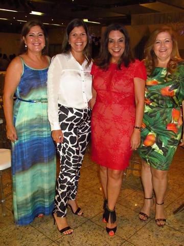 Gicélia Calais, Liginha Araújo, Valéria Souza e Dayse