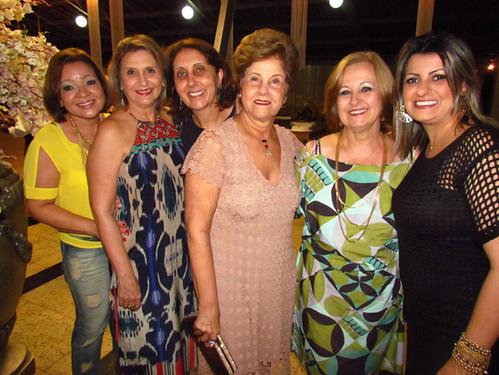 Dilma, Cristina, Cecília, Vima, Neimar e  Cristiane