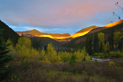Sunrise in the Bob Marshall Wilderness
