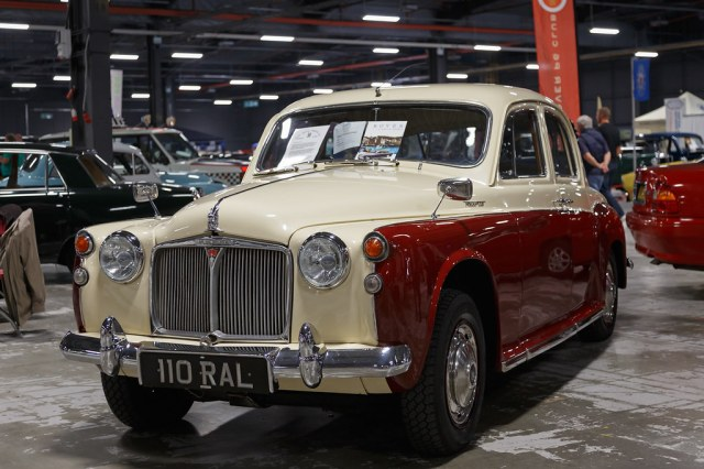Image result for rover p4 100 maroon cream