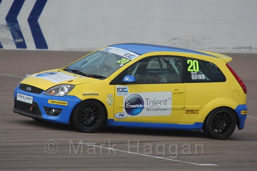 Ronan Quinn in Race 1, Fiesta Junior Championship, Rockingham, Sept 2015