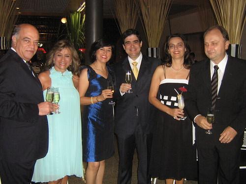 Omar Silva Jr. e Gracinha, Cidinha e Marco Antônio Castello Branco, Denise Brum e Célio