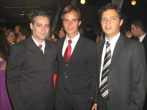 Delamanche Avelino, Gabriel de Carvalho e Eduardo Rocha, em clima de vivas à Usiminas