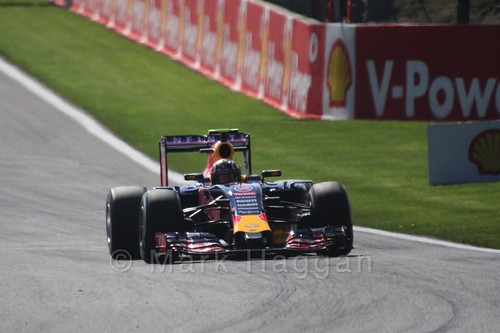 Daniil Kvyat in Free Practice 1 for the 2015 Belgium Grand Prix