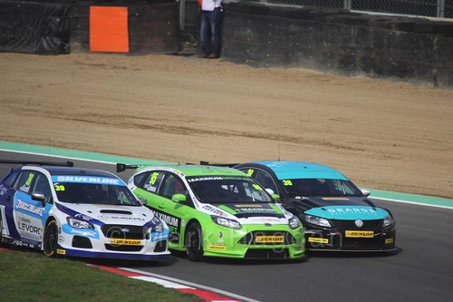 Warren Scott, Stewart Lines and Mark Howard during the BTCC Brands Hatch Finale Weekend October 2016