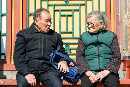 Visiteurs du palais d'été