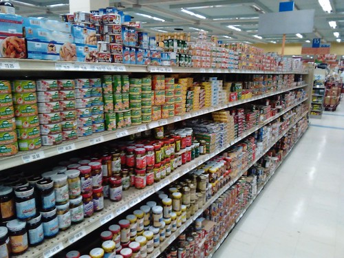 TUNA CANS OVERKILL at Unimart by qubodup, on Flickr