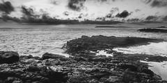 A Coastal Sunrise Black & White