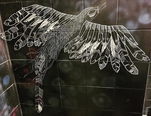 #Vogel #Klokunst  @ #Kulturinsel #zollamtstuttgart #0711 #Stuttgart  #streetart #bird