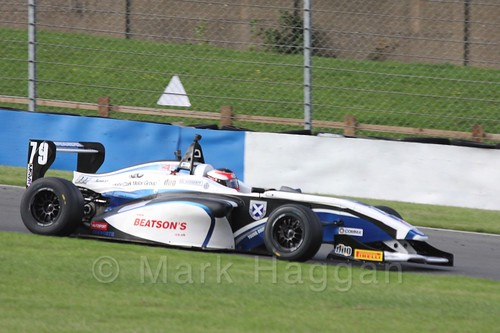 Graham Brunton Racing's Ciaran Haggerty in BRDC F4 Race Three at Donington Park, September 2015