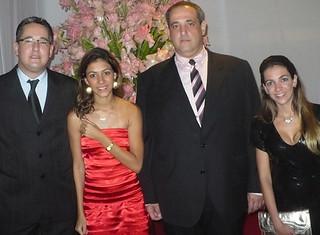 João Marcos e Kadu Sena, com as irmãs Aline e Andreza Lage
