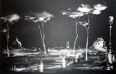 E. SCALCINO_COLLOQUI NOTTURNI, litografia maniera nera