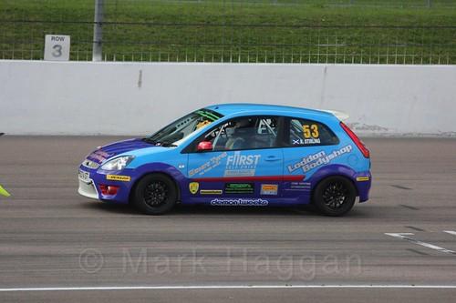 Kevin Stirling in Fiesta Racing at Rockingham, Sept 2015