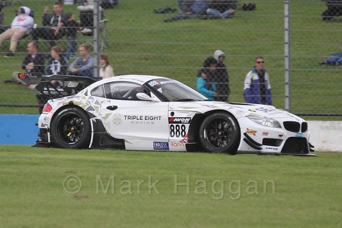 The Triple Eight Racing BMW Z4 GT3 of Lee Mowle and Joe Osborne in GT Racing at Donington Park, September 2015