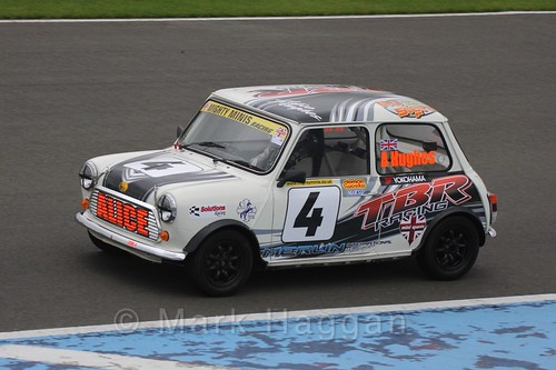 Alice Hughes in Mighty Minis at Donington Park, October 2015