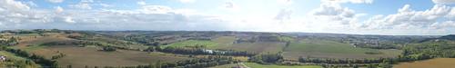 La vue à 360° sur le paysage de Gascogne est époustouflante !