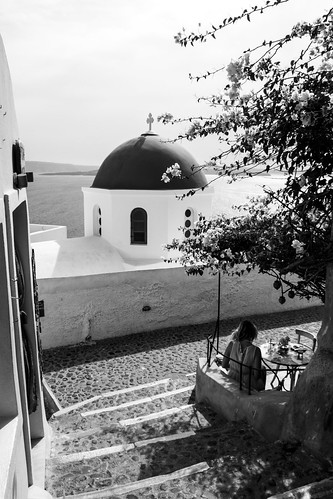 Oia church b/w 4