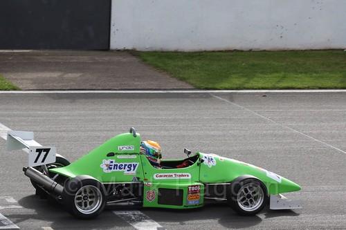 Ben Hingeley in Formula Jedi racing at Donington, September 2015
