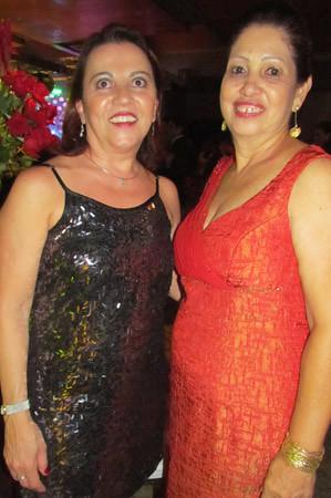 A ex secretária de Dr. Rinaldo, Beth, e Lelena Almeida