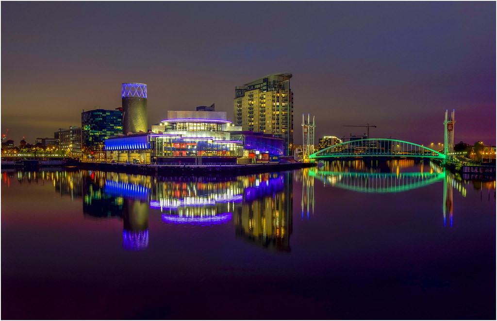 Salford Quays Light Art