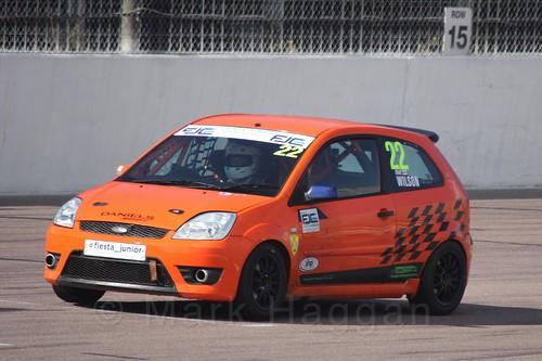 Ian Wilson in Fiesta Racing at Rockingham, Sept 2015