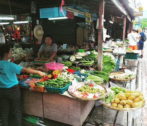 #Markt I  #Kochkurs #cooking class #asiasceniccookingschool @ #ChangMai #Thailand  #thailoup #traveloup