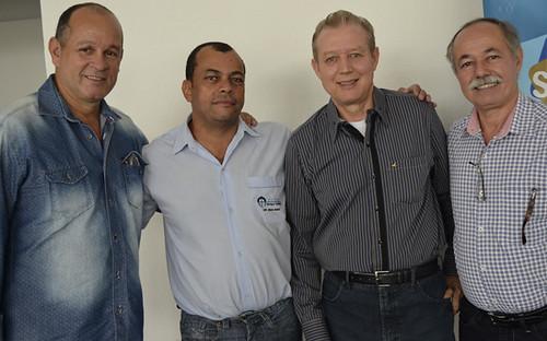 Demétrios Gualberto, Divino Angelo da Silva, José Maria Facundes e João Drummond - Foto Emmanuel Franco
