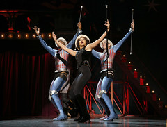 (L to R) Manson Trio: Borris York, Gabrielle McClinton, Mathew deGuzman in the national tour of PIPPIN presented by Broadway Sacramento at the Sacramento Community Center Theater Dec. 29, 2015 – Jan. 3, 2016.  Photo by Joan Marcus.
