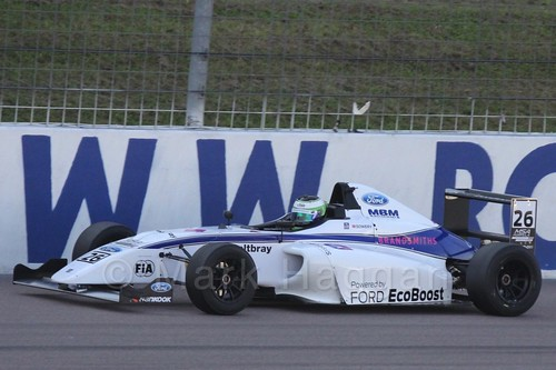 Toby Sowery in MSA Formula at Rockingham, September 2015