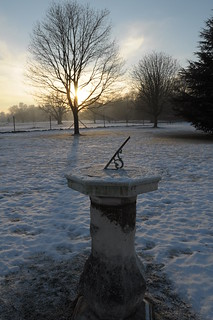 Sun, snow and sundial
