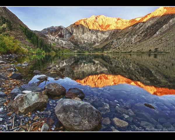 Convict Lake Alpenglow | EXPLORE Better View On Black I ...