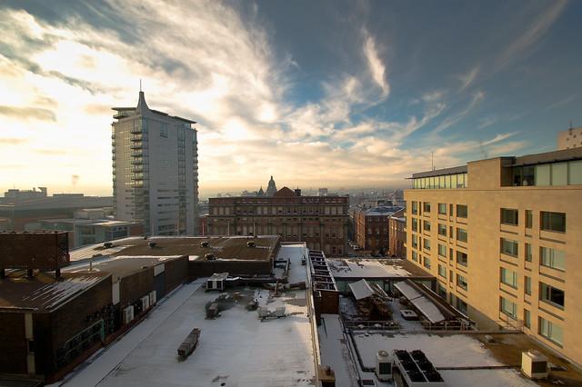 view over West Leeds
