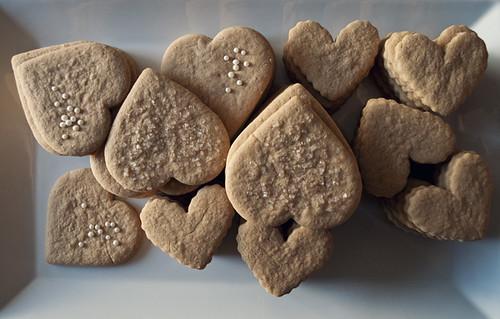 A batch of heart cookies