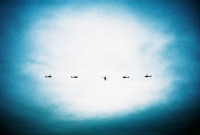 5 helicopters