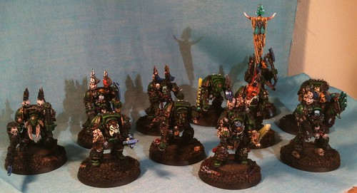 All the Nurgle Terminators I rebased