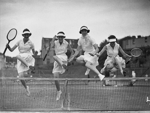 Country week tennis, 5 January 1937, by Sam Hood
