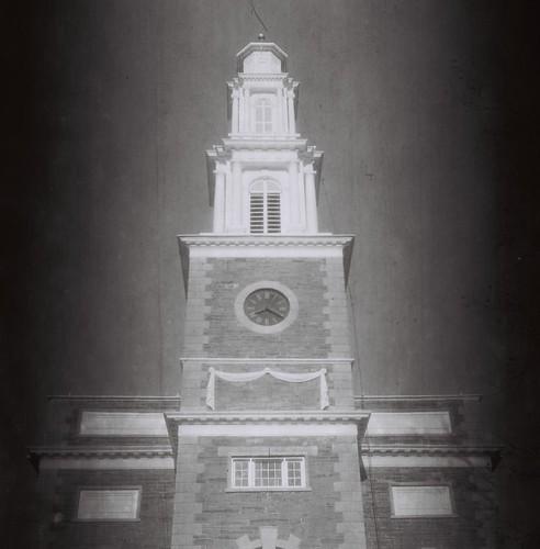 Hamilton College Chapel tower, Clinton, N.Y. - Shot on 60-year-old Kodak 120 B&W stock