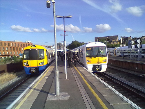 Class 378 and Class 376 at New Cross