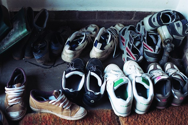 It's a pile of cool shoes.