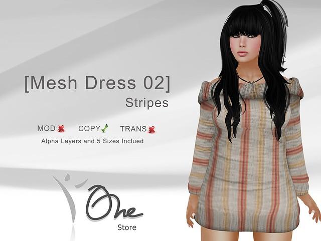 [Mesh Dress 02] Stripes