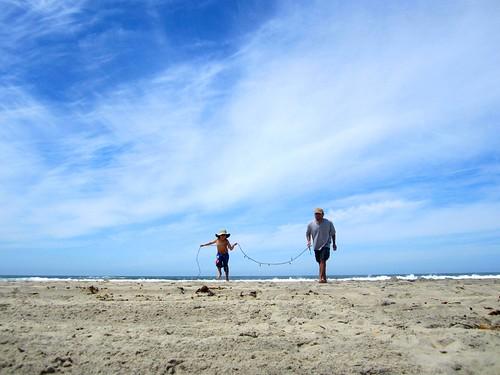 corriendo entre el cielo, el suelo y el mar