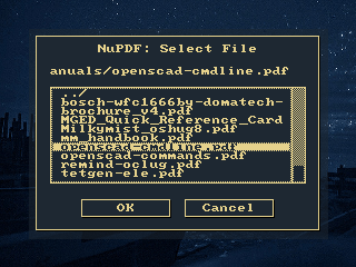 Alfilesel file selection on Ben NanoNote