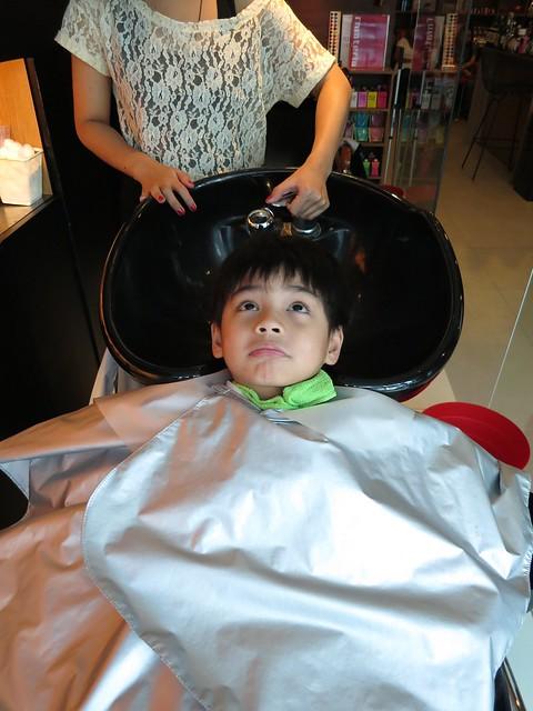 Christian's haircut