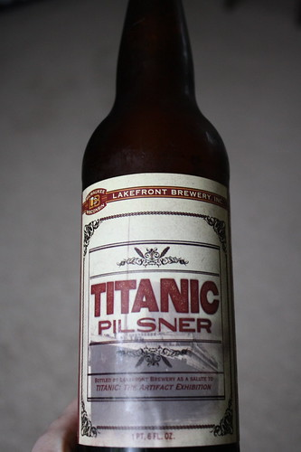Titanic Pilsner beer, Lakefront Brewery