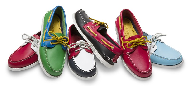 Sperry flag shoes