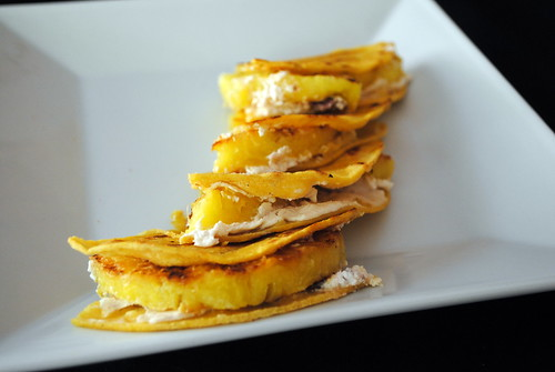 Grilled Pineapple & Goat Cheese Quesadillas