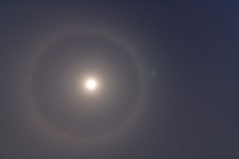 Ring around the moon in Iwate