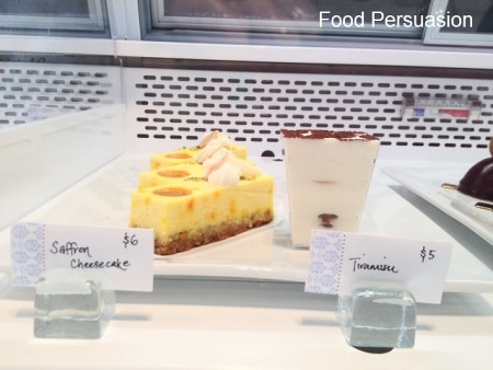 Saffron Cheesecake and Tiramisu
